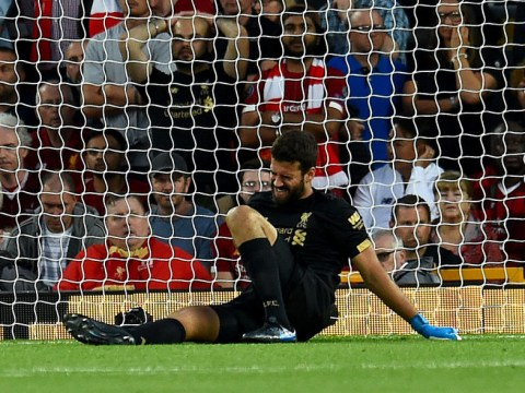 Liverpool star Alisson to miss next 'few weeks' to calf injury