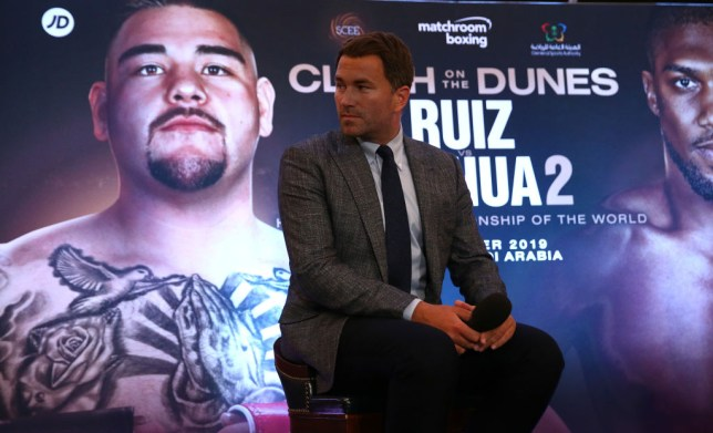 Eddie Hearn announced the rematch without any comment from Andy Ruiz Jr