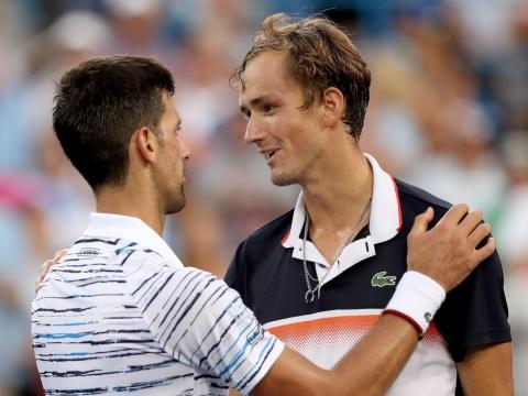 Novak Djokovic reacts to Cincinnati Masters defeat as Daniil Medvedev closes in on top-five debut