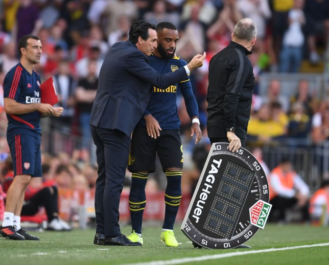 Alexandre Lacazette started on the bench against Liverpool last week