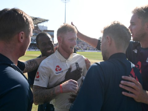 England star Ben Stokes reacts after snatching victory away from Australia and saving the Ashes