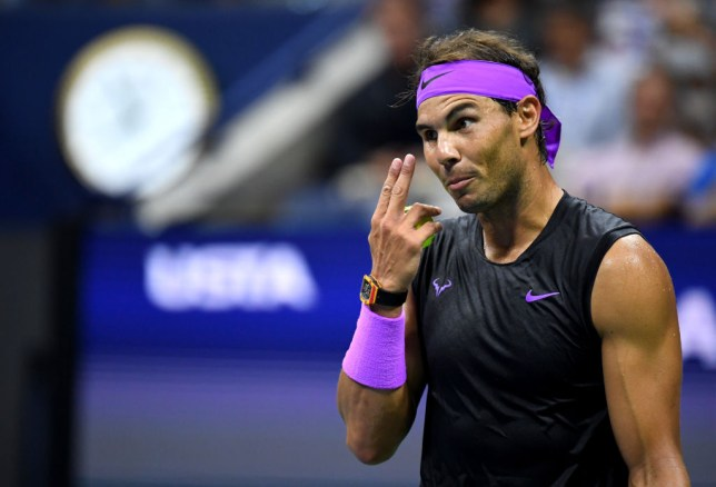 Rafael Nadal reacts to US Open crowd booing Novak Djokovic