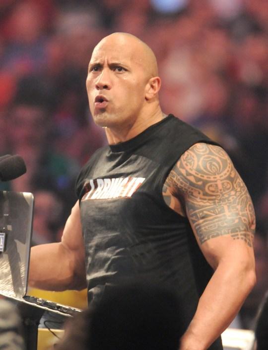 WWE star Dwayne 'The Rock' Johnson