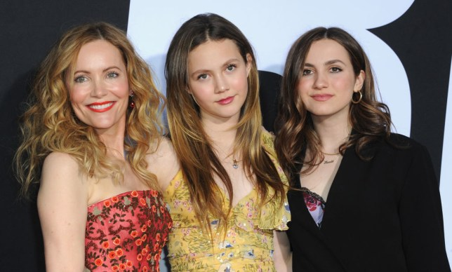 Leslie Mann and Iris and Maude Apatow