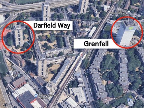 Fire breaks out in block of flats next to Grenfell Tower