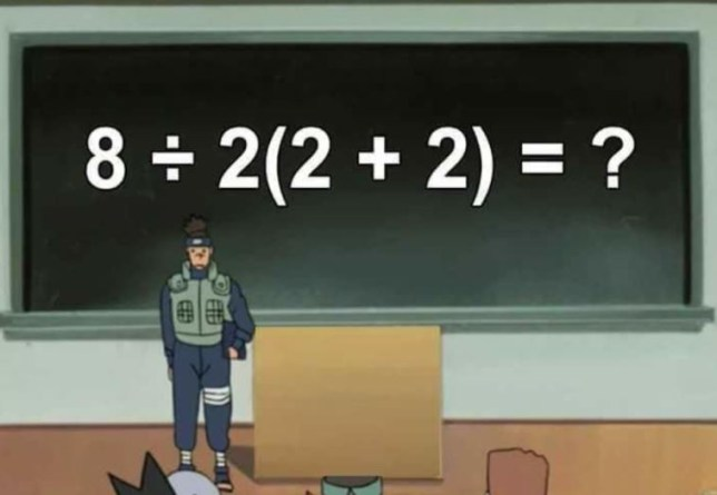 This maths equation is dividing the internet squarely in half