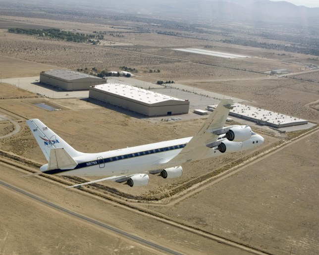 Nasa's DC-8 'airborne science laboratory' (Nasa)