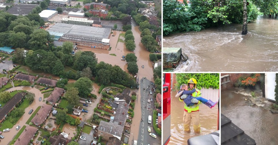Major flooding across Cheshire
