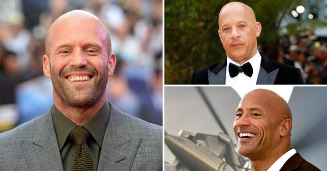 Jason Statham, Vin Diesel, Dwayne Johnson