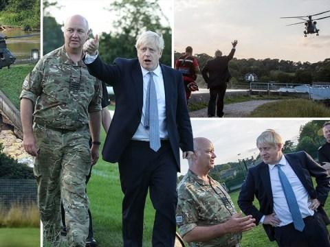 Whaley Bridge dam still 'critical' as Boris Johnson meets evacuees