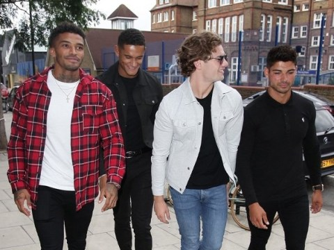 Love Island's Anton Danyluk and Danny Williams strut stuff after boys' day out with Michael Griffiths and Joe Garratt