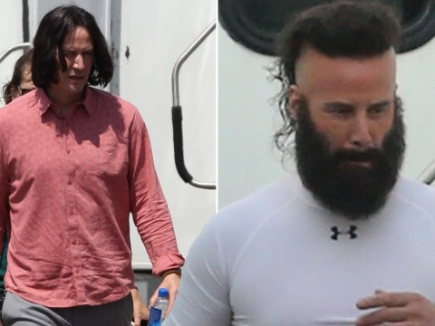 Keanu Reeves still breathtaking as he looks unrecognisable with beard and mohawk for Bill & Ted Face The Music