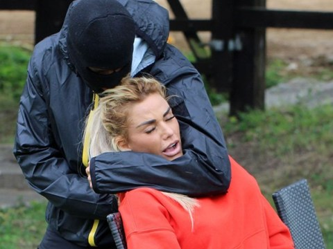 Katie Price 'choked by balaclava-wearing thug' as she stages mock robbery with new guard dog