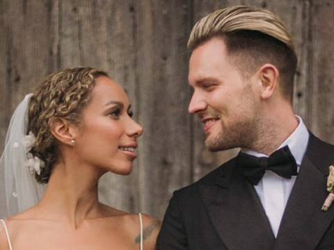 Leona Lewis is one beautiful bride as 'tearful' wedding pictures revealed