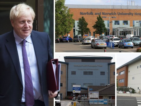 Which hospitals will get upgrades as part of Johnson's £850,000,000 spending pledge?
