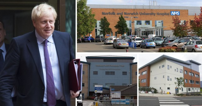 The Prime Minister is visiting hospitals in Lincolnshire as he puts the health service at the centre of his election campaign (Picture: Getty/Rex)