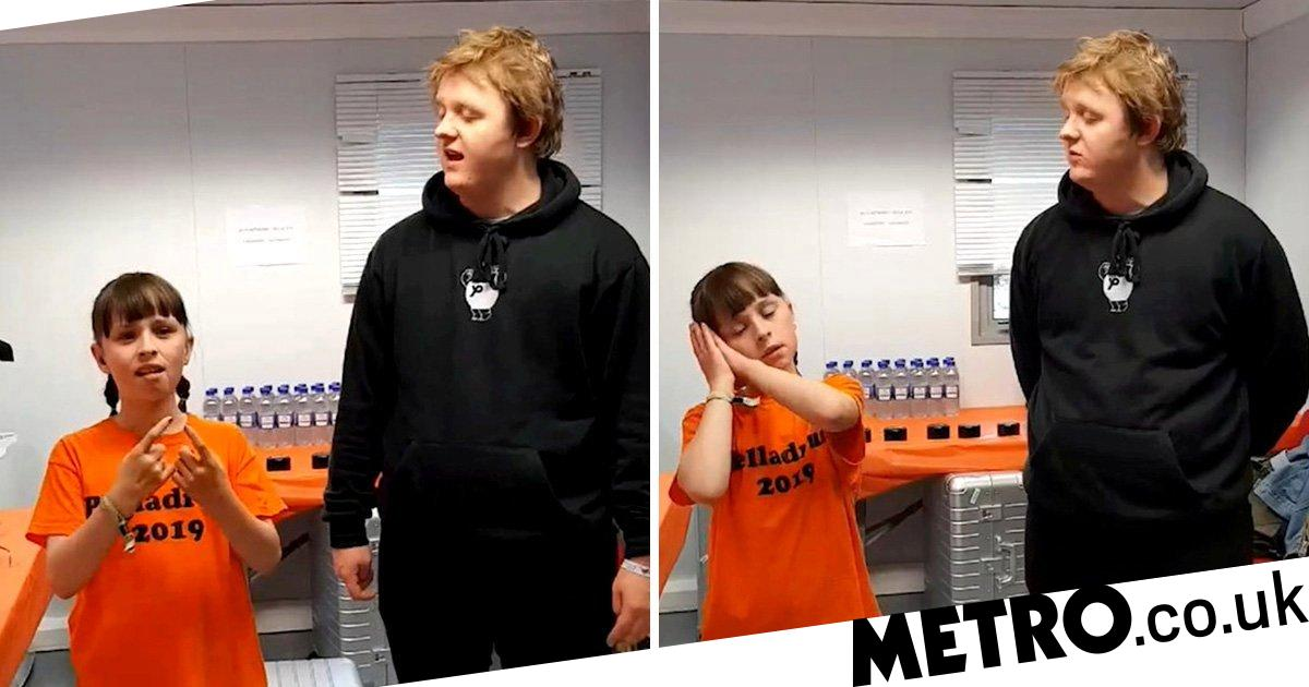 Lewis Capaldi sings with deaf 10 year old fan as she signs in