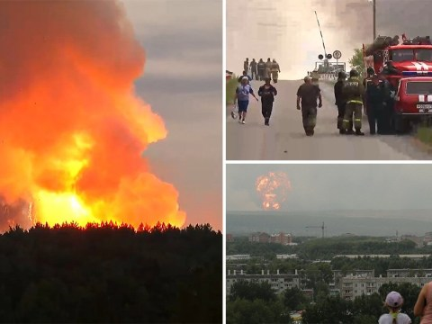 Thousands evacuated after Russian ammunition depot explodes