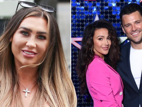 'I'm glad that ain't me': Lauren Goodger claims ex Mark Wright and wife Michelle Keegan 'don't talk'