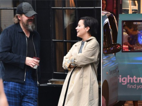 Lily Allen leaves theatre with Stranger Things actor David Harbour and we didn't even know they were mates