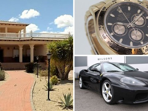 Confiscated Spanish villa, Ferrari and Rolex all on sale for a cut-price