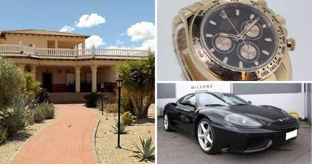 Confiscated villa, Ferrari and Rolex all on sale for a fraction of the price