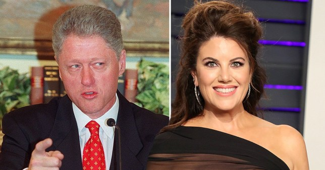 Caption: Bill Clinton, Monica Lewinsky