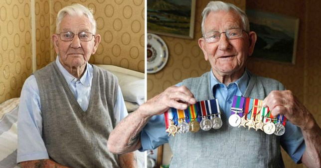 Cruel thieves steal 106-year-old Second World War veteran's medals