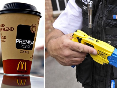 McDonald's 'clown robber' tasered by police who popped in for coffee