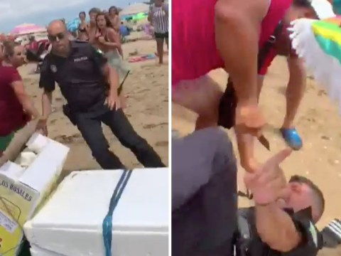 Beach seller stabs Spanish police chief in front of tourists for seizing unlicensed goods