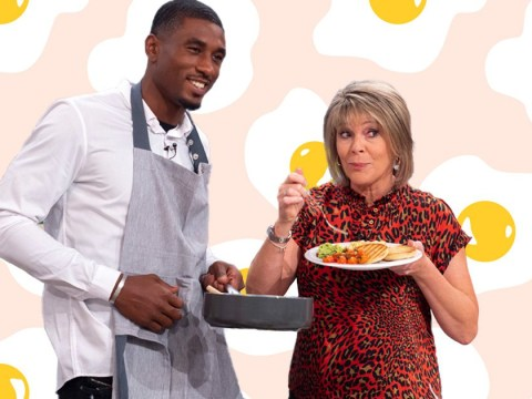 Love Island's Ovie Soko whips up scrambled egg brunch on This Morning with a little tip from India Reynolds