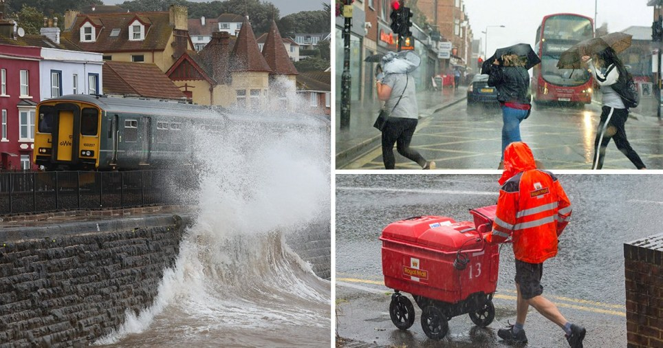 Weekend washout as UK faces 60mph winds and thunderstorms