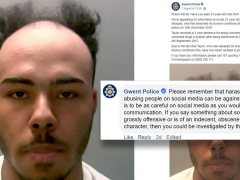 Police say trolls who mocked drug dealer's 'receding hairline' could be prosecuted