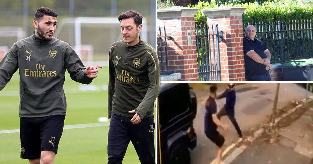 Caption: Mesut Ozil and Sead Kolasinac are under 24 hour guard (Picture PA/ISO Images/Twitter)