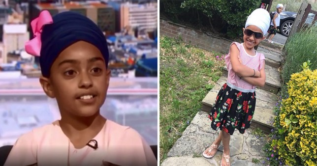 Sikh girl Navrup Kaur who was called a 'terrorist' by teenagers in a London park