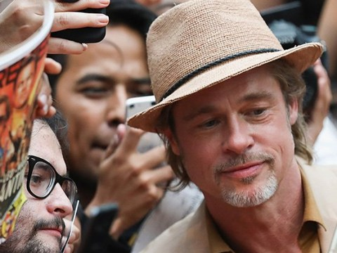 Brad Pitt is main attraction at Once Upon A Time In Hollywood premiere as he's swarmed by fans for selfies