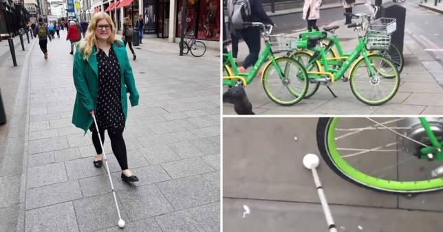 Blind woman reveals problems dockless bikes cause her on daily basis