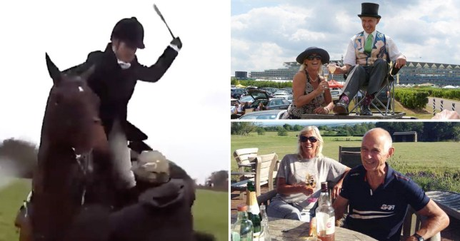 Huntswoman filmed whipping saboteur was crushed to death by own horse Caption: (Picture: INS)