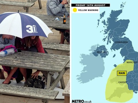 Severe weather warning for heavy rain issued for Friday