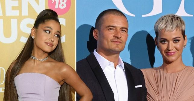 Ariana Grande Orlando Bloom and Katy Perry