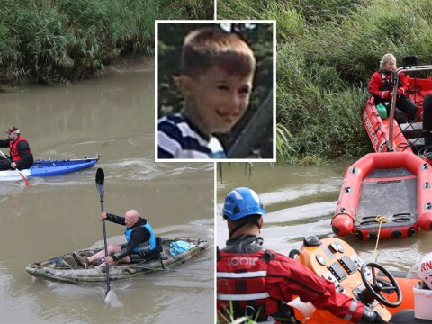 Search resumes for missing boy, 6, who fell into river while fishing with dad