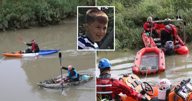 Lucas went missing from the River Stour