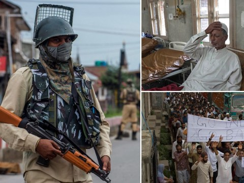 Inside Kashmir on lockdown: Images show injured protesters and mass military build up