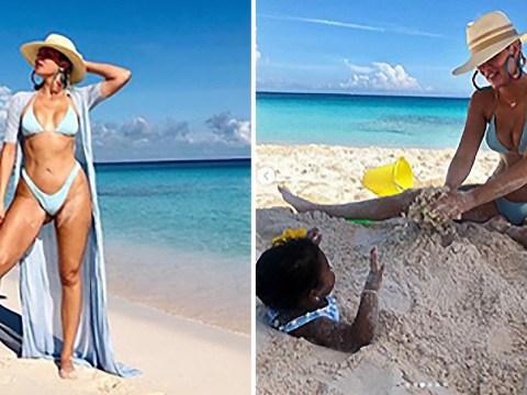 Khloe Kardashian enjoys adorable beach day with daughter True