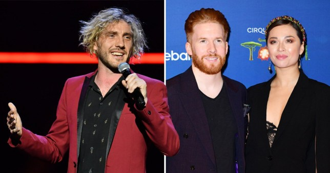 Comedian Seann Walsh and Strictly Come Dancing's Neil Jones and Katya Jones