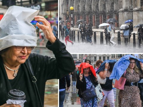Heavy rain across the UK but heatwave predicted for bank holiday