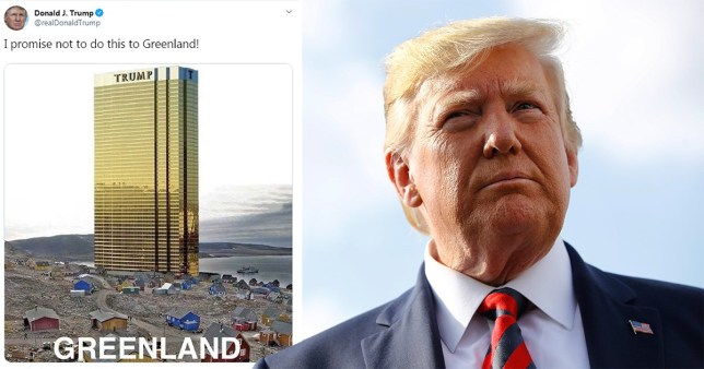 Donald Trump Twitter joke about Greenland hotel did not go down well