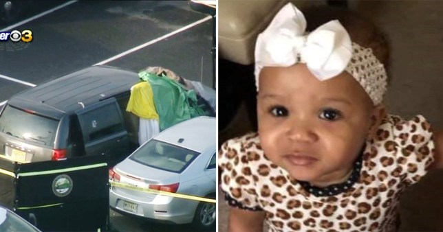 Milliani Robertson-Lawrence, one, was found in a hot car in a train station car park where she had been left for eight hours, police said (Picture: CBS/Lawrence Family)