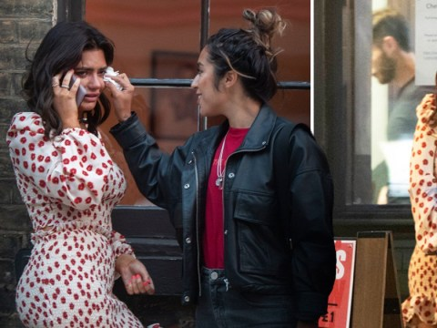 Megan Barton Hanson pictured in tears after 'split' from Celebs Go Dating star Demi Sims
