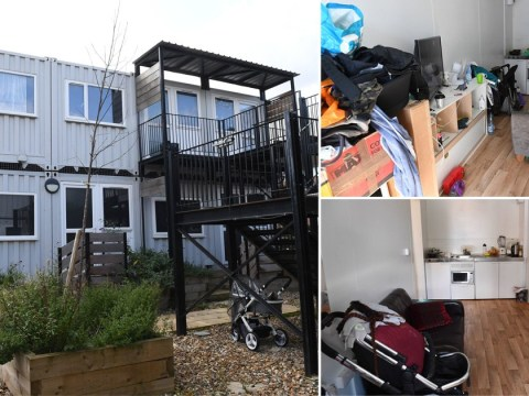 Children forced to live in shipping containers across England